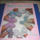 Leisure arts 377 Baby Booties to kint and crochet crochet booklet