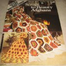 Leisure arts 163 Scraps to Beauty Afghans crochet booklet