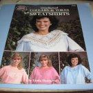 American School of needlework crocheted collars and yokes for sweatshirts by Linda Hammonds 1055