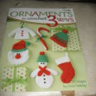 Leisure Arts 4241 Ornaments to crochet 3 Ways by Anne Halliday