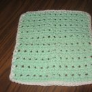 Mint and green  Crochet Dish Cloth