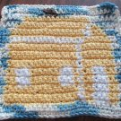 Crochet house cabin dish cloth 100% cotton