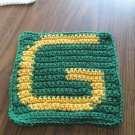 Crochet Green Bay Packers dish cloth 100% cotton