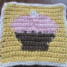 Crochet Cupcake dish cloth 100% cotton