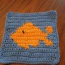 Crochet goldfish dish cloth 100% cotton