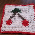 Crochet cherries dish cloth 100% cotton