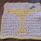 Crochet margarita dish cloth 100% cotton