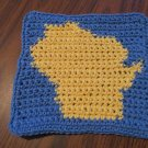 Crochet Wisconsin dish cloth