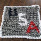 Crochet U S A dish cloth 100% cotton