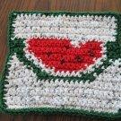 Crochet Watermelon dish cloth 100% cotton