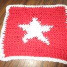 Crochet Star dish cloth 100% cotton