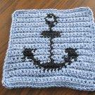 Crochet Anchor dish cloth 100% cotton