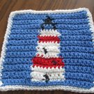 Crochet Lighthouse dish cloth 100% cotton