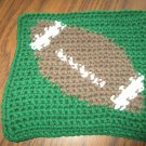 Crochet Football dish cloth 100% cotton