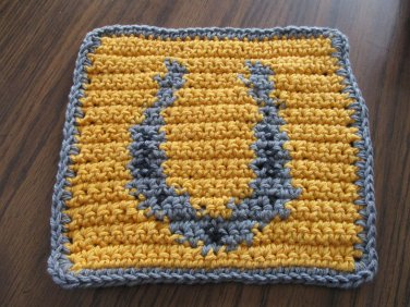 Crochet Horseshoe dish cloth 100% cotton