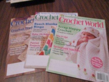 Crochet World 3 issues 2010