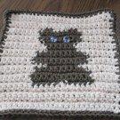 Crochet teddy bear dish cloth 100% cotton