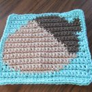 Crochet Acorn dish cloth 100% cotton