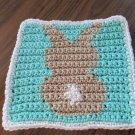 Crochet Bunny Rabbit  dish cloth 100% cotton