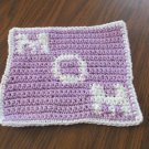 Crochet MOM Mother's Day  dish cloth 100% cotton
