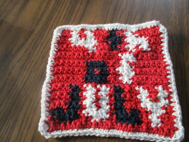 Crochet  Fourth of July dish cloth 100% cotton