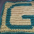 Crochet Green Bay Packers dish cloth 100% cotton gold