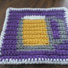 Crochet Beer Mug  dish cloth 100% cotton purple background