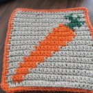 Crochet Carrot vegetable dish cloth 100% cotton