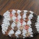 Crochet fish shades of brown dish cloth or bath scrubbie 100% cotton