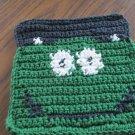 Crochet Halloween Monster dish cloth 100% cotton green