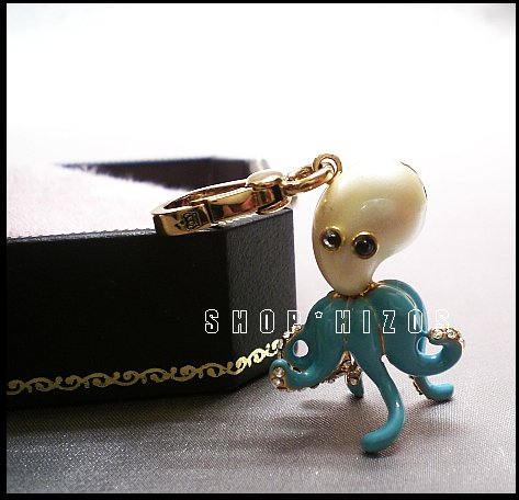 Authentic Rare Juicy Couture Pave Octopus Charm NIB