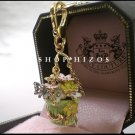 AUTHENTIC JUICY COUTURE PAVE FLOWER BASKET CHARM NIB