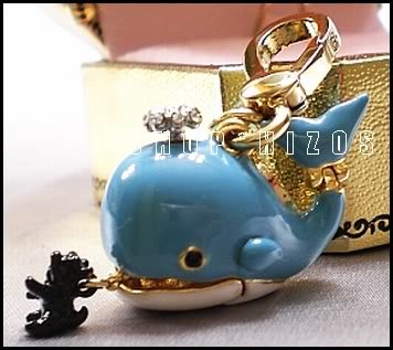 Authentic Juicy Couture Ltd Edt Blue Whale Yorkie Charm NIB