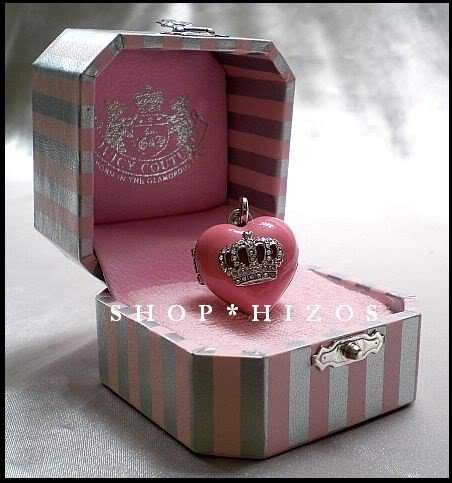 Juicy Couture Silver Edition Pave Crown Heart Locket Charm