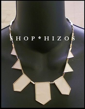 HOUSE of HARLOW CREAM TRIANGLE NECKLACE
