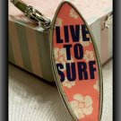 JUICY COUTURE SILVER EDT SURFBOARD CHARM NIB