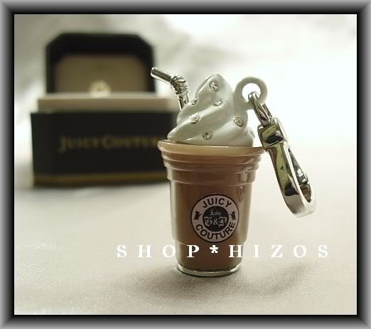 AUTHENTIC JUICY COUTURE PAVE SILVER EDITION FRAPPE DRINK CHARM NIB