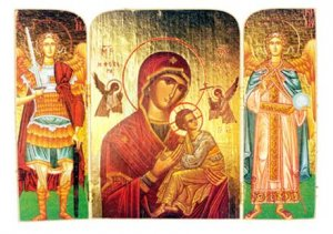 Christ and Theotokos Triptych