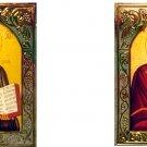 Christ and Theotokos w/Gold Plastic Frame