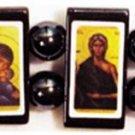 Orthodox Women Icon Bracelet (Hematite)