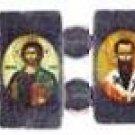 Small Eastern Orthodox Icon Bracelet (Hematite)