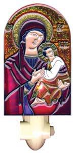 Theotokos/Christ (Awsome Protection) Icon Night Light