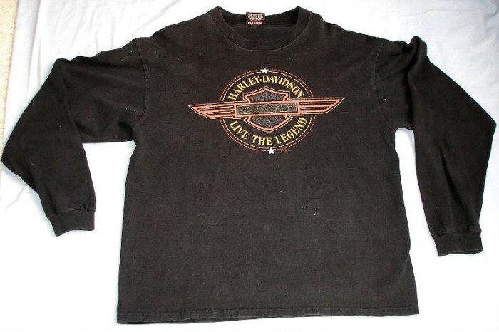 HARLEY DAVIDSON Motorcycles long sleeve t-shirt LG $$ FREE US SHIPPING$$