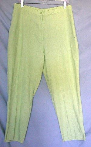 "NAPA VALLEY apple green pants size 16 - 29"" inseam"