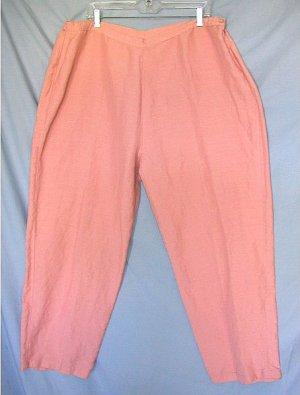 JENNIFER WOMEN dusty rose cropped pants sz 22