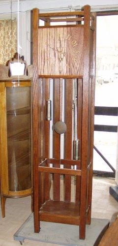 L Amp Jg Stickley Mission Arts Amp Crafts Oak Grandfather Clock