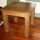 "Mission arts&crafts 32"" cube table 1/4 sawn oak throughout"