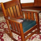 Harden mission arts&crafts slat side oak rocker