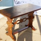 Limbert style mission arts&crafts oak trestle table