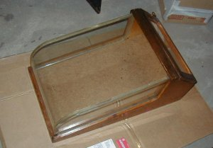 1940s Country store cuved glass dispay case